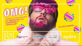 OMG ! Afterwork inter-asso des Séropotes à Paris le mer. 20 mars 2019 de 19h00 à 23h00 (After-Work Gay)