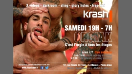 Orgiak in Paris le Sat, November 24, 2018 from 07:00 pm to 07:00 am (Sex Gay)
