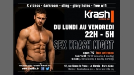 Sex Krash Night à Paris le jeu.  3 janvier 2019 de 22h00 à 05h00 (Sexe Gay)