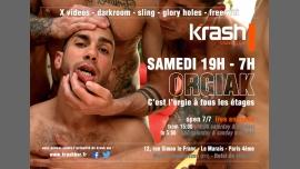 Orgiak à Paris le sam.  8 décembre 2018 de 19h00 à 07h00 (Sexe Gay)