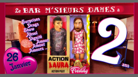 Anniversaire M'sieurs Dames : 2 ans déjà in Paris le Sat, January 26, 2019 from 06:00 pm to 02:00 am (After-Work Gay)