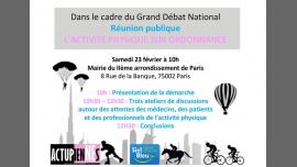 Grand Débat National: L'activite Physique sur Ordonnance a Parigi le sab 23 febbraio 2019 10:00-13:00 (Incontri / Dibatti Gay, Lesbica, Trans, Bi)