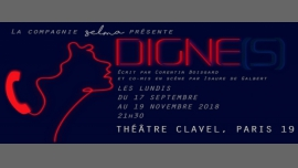 Digne(s) à Paris le lun. 24 septembre 2018 de 21h30 à 22h40 (Théâtre Gay Friendly, Lesbienne Friendly)