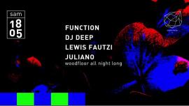Concrete: Function, DJ Deep, Lewis Fautzi, Juliano in Paris le Sa 18. Mai, 2019 23.00 bis 09.30 (Clubbing Gay Friendly)