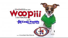 Woopiii, c'est mercredi ! Woopiii rugby ! in Paris le Wed, October 23, 2019 from 06:00 pm to 02:00 am (After-Work Gay, Lesbian)