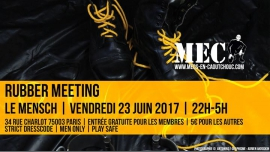 Rubber Meeting à Paris le ven. 23 juin 2017 de 22h00 à 05h00 (Sexe Gay)