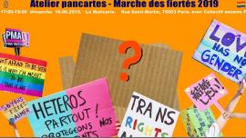 Atelier Pancartes - Marche des fiertés2019 in Paris le Sun, June 16, 2019 from 05:00 pm to 07:00 pm (Workshop Lesbian)