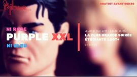 Purple XXL : La plus grande soirée étudiante LGBT+ in Paris le Thu, May 30, 2019 from 11:30 pm to 05:00 am (Clubbing Gay, Lesbian)