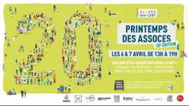 Printemps des Assoces : 20ème édition ! [Évènement officiel] à Paris le sam.  6 avril 2019 de 14h00 à 19h00 (Festival Gay, Lesbienne)