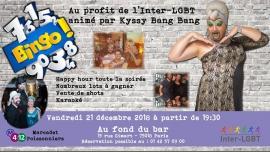 Soirée bingo au profit de l'Inter-LGBT à Paris le ven. 21 décembre 2018 de 19h30 à 00h00 (After-Work Gay, Lesbienne)