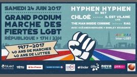 Grand Podium de la Marche des Fiertés LGBT de Paris à Paris le sam. 24 juin 2017 de 17h00 à 22h00 (Concert Gay, Lesbienne)