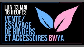 Vente/essayage de binders et accessoires in Paris le Mon, May 13, 2019 from 06:00 pm to 12:30 am (After-Work Lesbian)