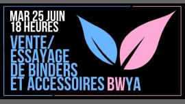 巴黎Vente/essayage de binders et accessoires2019年 6月25日,18:00(女同性恋 见面会/辩论)