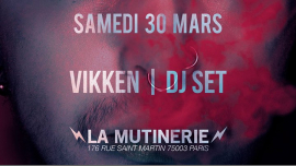 DJ set : Vikken à Paris le sam. 30 mars 2019 de 21h30 à 01h30 (After-Work Lesbienne)