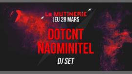DJ set : Dotcnt + Naominitel à Paris le jeu. 28 mars 2019 à 21h30 (After-Work Lesbienne)