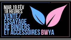Vente/essayage de binders et accessoires in Paris le Tue, February 19, 2019 from 06:00 pm to 12:30 am (After-Work Lesbian)