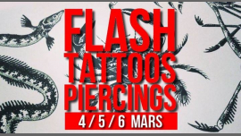 Flash-tattoos et piercings // 3 jours à Paris le mer.  6 mars 2019 de 17h00 à 00h30 (Atelier Lesbienne)