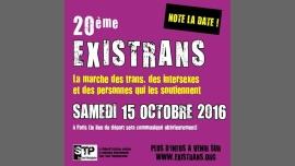 Existrans 20e édition à Paris le sam. 15 octobre 2016 à 14h00 (Rencontres / Débats Gay, Lesbienne, Trans, Bi)