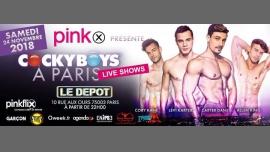 """Pinkx présente """"Cocky Boys à Paris"""" in Paris le Sat, November 24, 2018 from 10:00 pm to 06:00 am (Clubbing Gay)"""