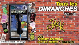 JACK - Tous les dimanches ! in Paris le Sun, November 11, 2018 from 10:00 pm to 06:00 am (Clubbing Gay)