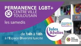 Permanence LGBT+ Toulouse - Jules & Julies à Toulouse le sam. 19 janvier 2019 de 14h00 à 18h00 (Rencontres / Débats Gay, Lesbienne)