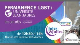 Permanence LGBT+ Univ Jean Jau - Jules & Julies em Toulouse le qui, 21 fevereiro 2019 12:30-14:00 (Reuniões / Debates Gay, Lesbica)