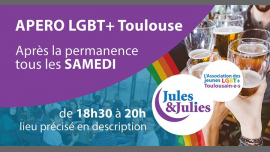 Apéro LGBT+ Toulouse - Jules & Julies à Toulouse le sam. 23 février 2019 de 18h30 à 20h00 (Rencontres / Débats Gay, Lesbienne)