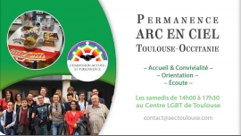 Permanence ARC EN CIEL Toulouse/Occitanie in Toulouse le Sat, March 16, 2019 from 02:00 pm to 05:30 pm (Meetings / Discussions Gay, Lesbian, Bear)
