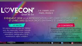 LoveCon' LGBT+ event à Paris le sam.  2 mars 2019 de 09h30 à 19h00 (Festival Gay, Lesbienne, Trans, Bi)