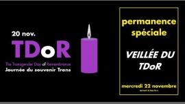 TDoR] Veillée au CGLBT Rennes in Rennes le Mi 22. November, 2017 19.00 bis 22.00 (Begegnungen / Debatte Gay, Lesbierin)