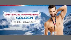 Gay Snowhappening 2020 à Sölden du 21 au 28 mars 2020 (Festival Gay)