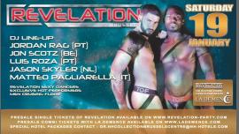 Revelation • 19 January à Bruxelles le sam. 19 janvier 2019 de 22h00 à 08h00 (Clubbing Gay)