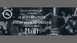 SNOW ¥ Back to origins ¥ em Bruxelas le Sáb, 21 Janeiro 2017 às 23:00 (Clubbing Gay)