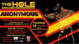 Anonymous - Maspalomas Fetish Week 2019 en Playa del Ingles le jue 10 de octubre de 2019 22:00-05:00 (Sexo Gay)