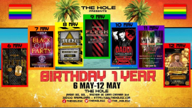 XXL Birthday The Hole 1 year - Gay Pride Maspalomas 2019 in Playa del Ingles von  6 bis 13. Mai 2019 (Sexe Gay)