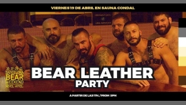 BEAR Leather Party · Sauna Condal · 19 Abril 2019 in Barcelona le Fri, April 19, 2019 from 05:00 pm to 10:00 pm (Sex Gay, Bear)
