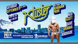 Benidorm Pride Festival presenta Kluster - Saturday 8.9.18 in Benidorm le Sat, September  8, 2018 from 01:30 am to 08:00 am (Clubbing Gay)