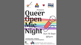 Open Mic Pride Night! à La Valette le dim. 16 septembre 2018 de 17h00 à 21h00 (After-Work Gay, Lesbienne, Trans, Bi)