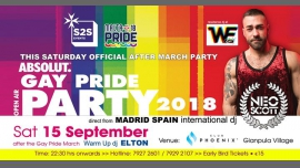 S2S Main Official After March Gay PRIDE PARTY 2018 à Rabat le sam. 15 septembre 2018 de 22h30 à 04h00 (Clubbing Gay, Lesbienne, Trans, Bi)