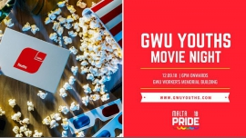 Movie Night à La Valette le mer. 12 septembre 2018 de 18h00 à 21h30 (Cinéma Gay, Lesbienne, Trans, Bi)
