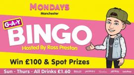 G-A-Y Manchester Monday Bingo à Manchester le lun. 22 juillet 2019 de 12h00 à 04h00 (Clubbing Gay)