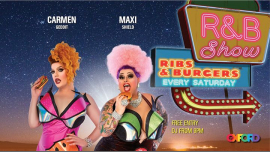 R&B Show: Ribs & Burgers in Sydney le Sat, November 16, 2019 from 09:00 pm to 12:00 am (Show Gay)
