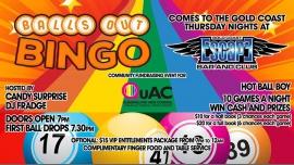 Balls Out Bingo comes to the Gold Coast à Surfers Paradise le jeu.  8 décembre 2016 de 19h00 à 21h30 (Before Gay Friendly)