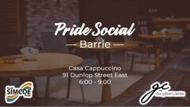 Pride Social - Barrie en Barrie le lun 18 de noviembre de 2019 18:00-21:00 (Reuniones / Debates Gay, Lesbiana)