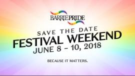 Barrie Pride 2018 Festival Weekend à Barrie du  8 au 10 juin 2018 (Festival Gay, Lesbienne, Trans, Bi)