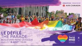 Festival Fierté Montréal - Le Défilé présenté par Air Canada à Montréal le dim. 18 août 2019 de 13h00 à 16h00 (Parades / Défilés Gay, Lesbienne)