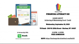 Financial Literacy 102 - Achieving and Maintaining Good Credit in New York le Wed, September 18, 2019 from 05:30 pm to 06:30 pm (Meetings / Discussions Gay, Lesbian, Trans, Bi)