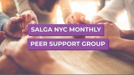 Join SALGA NYC at Peer Support Group in New York le Sat, November  9, 2019 from 04:00 pm to 06:00 pm (Meetings / Discussions Gay, Lesbian, Trans, Bi)