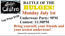 Battle of the Bulges! in San Francisco le Mon, August  5, 2019 from 09:00 pm to 02:00 am (Clubbing Gay, Bear)