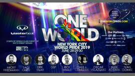 Masterbeat One World: WorldPride NYC 2019 à New York du 27 au 30 juin 2019 (Clubbing Gay Friendly)